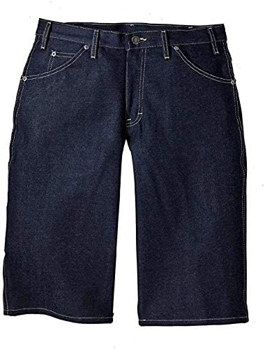 Dickies Indigo Blue Denim Loose Fit Work Shorts 34 Waist