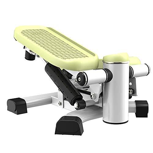 Mini Stepper Silencioso Máquina de Pedal sin Instalación Tonificación Entrenamiento Escalera Pasos Ejercicio Fitness Equipo,Green