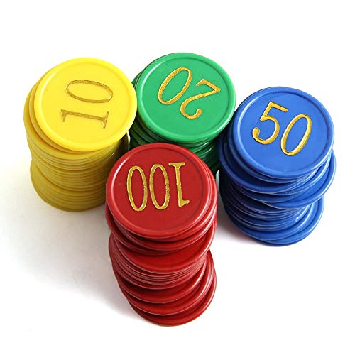ckground - Juego de fichas de póker (160 Unidades, Doble Cara, Digital, para Le Texas Holdem, Accesorios de Juegos de Bingo