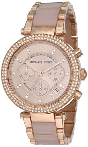 Michael Kors Reloj analogico para Mujer de Cuarzo con Correa en Acero Inoxidable MK5896