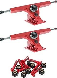 Caliber Trucks II Forty-Four Satin Red Skateboard Reverse Kingpin Trucks 44 Degrees - 7.25