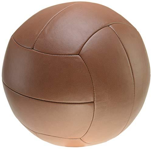 Goodproduct Kunstleder-Sitzball - Braun Ø 40 cm - für Kinder und Erwachsene – Gymnastikball und Fitnessball zum Sitzen, Turnen und Spielen