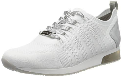 ara Damen LISSABON Sneaker, Grau (Weiss, Silber 08), 40 EU (6.5 UK)