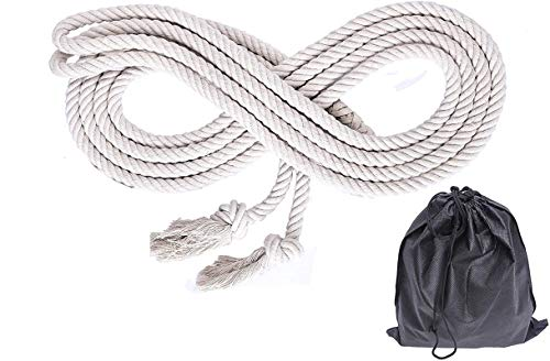 NICO SEE WONDER 16' Double Dutch Jump Rope, Long Hemp Skipping Rope with Bag (2-Pack)
