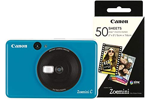 Canon Zoemini C 2-in-1 Sofortbildkamera-Drucker Seaside Blue inkl. 60 Drucke