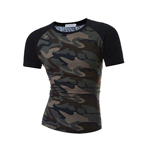 Wudici Mens Des-Tiny 2 Mens Casual 3//4 Sleeve Baseball Tshirt Raglan Jersey Shirt