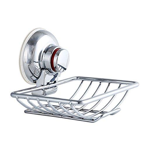 Mee'life Vakuum Saugnapf Seifenschale Halter Wandhalterung starkem Edelstahl Seifenspender Halter mit Saugnapf für Dusche Badezimmer & Küche