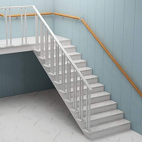 Escalera de madera Barandilla con soportes de acero inoxidable |Inicio ancianos Escaleras Pasamanos para escaleras for Corredor Loft Balaustrada barra de apoyo interior al aire libre de la varilla