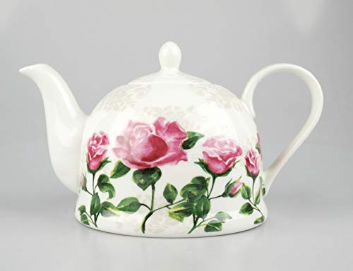 Jameson and Tailor Teekanne aus feinem Porzellan, Pink Roses