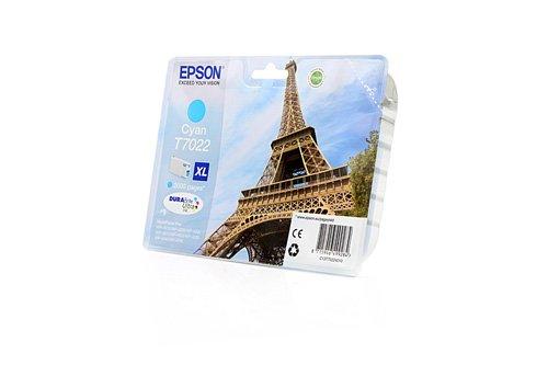 Epson WorkForce Pro WP-4545 DTWF - Original Epson C13T70224010 / T7022 - Cartouche d'encre Cyan -
