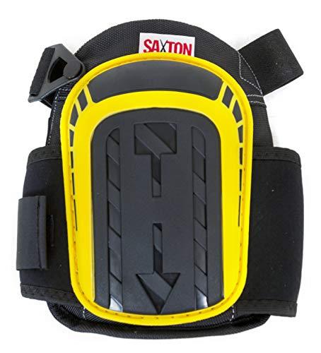 SSKPBY Saxton Genouillères professionnelles avec rembourrage en mousse robuste et gel confortable pour le travail, le jardinage, le bricolage, la construction, le revêtement de sol et le nettoyage