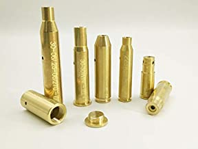 StrongTools BoreSighter for 223/9MM/7.62X39MM/30-30/30-06/.25/270/243/308/7MM/ 45 Colt Caliber Rifle Scope Handgun Brass Red Dot Boresight Kit for Hunting with AG3 Batteries (Special, Bullet Type)