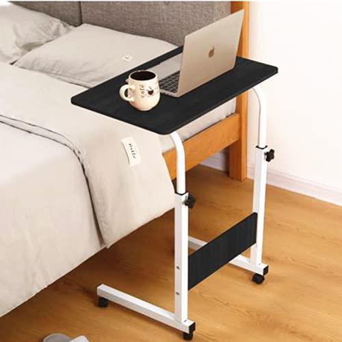 Mesa Plegable Auxiliar Mesa portátil con sujeción para Tablet Mesa Ajustable y Plegable para Tableta Multifuncional para Sofá/Cama/Escritorio (Rueda-N)