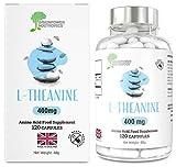 L-Theanine   120 capsule di L-Teanina pregiata   Vegan & Senza Glutine   Conforme a standard NBF   Soddisfatti o rimborsati   da Brainpower Nootropics (400mg)