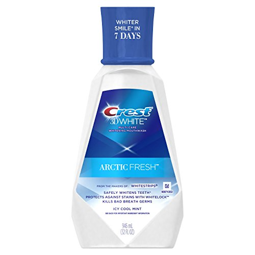 Crest 3D White Arctic Fresh Multi-Care Whitening Mouthwash, Icy Cool Mint, 946 mL