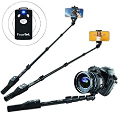 """SUPERIOR QUALITY, WOBBLE FREE SELFIES, COMPARED TO LIGHTWEIGHT STICKS > Ultra Extendable To Industry High 49"""", Quick Flip Locks,Tough Aluminum Alloy, Non-Slip Grip Rubber Handle, Ensures Wobble Free Photos, Mount To A Tripod With 1/4"""" Screw On Bottom..."""