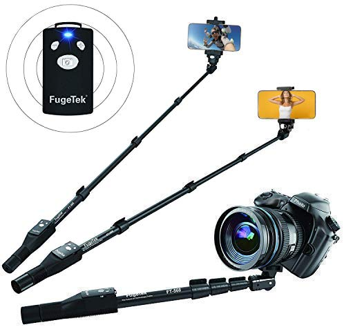 Fugetek FT-568 Professional High End Alloy Selfie Stick, Bluetooth Remote For Apple,...