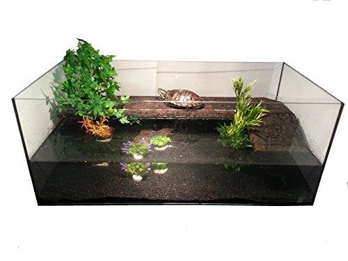FavoPet Deluxe Wasserschildkrötenbecken (120x60x50) + Landteil mit Kork