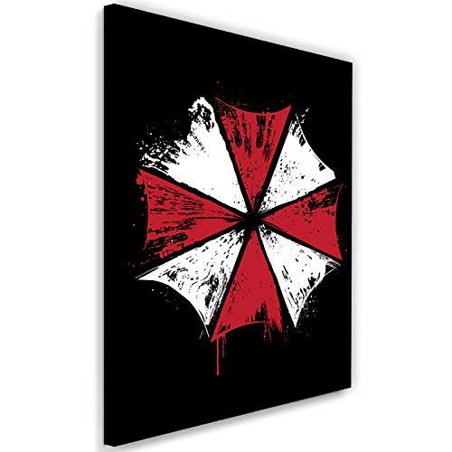 carowall CAROWALL.COM Cuadro de Pared XXL Umbrella Corp Impresión Lienzo Rojo 70x100 cm