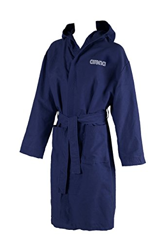 ARENA Zeal Youth Bademantel für Kinder, Blau (Navy/Weiß), S