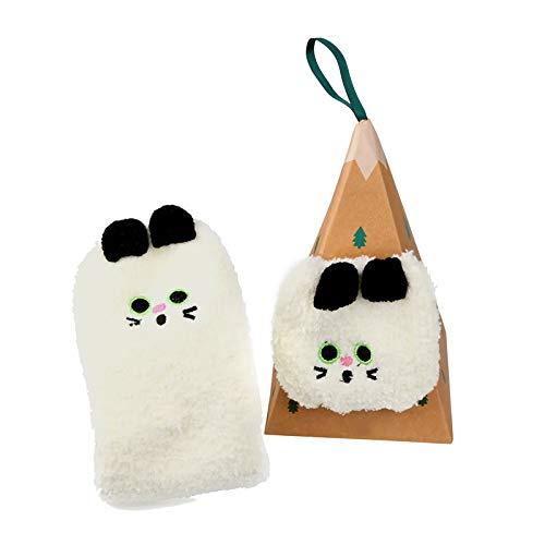 Weihnachtssocken, Flauschige Weihnachtssocken für Frauen, Warme Socken...