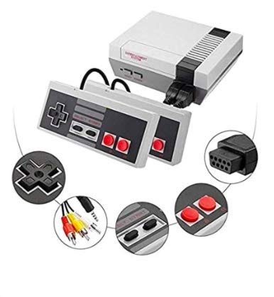 2020 Upgraded - Retro Classic mini video game console - 620 built-in retro classic games - AV output, 8-bit and TWO control handles. Bring back childhood memories - Re-live the fun times
