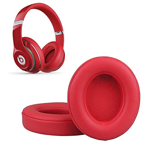 Krone Kalpasmos Beats Studio 3 Replacement Ear Pads, Ear Cushions for Beats Studio 2 & 3 (B0501, B0500) Wired & Wireless Headphone Soft Memory Foam Red