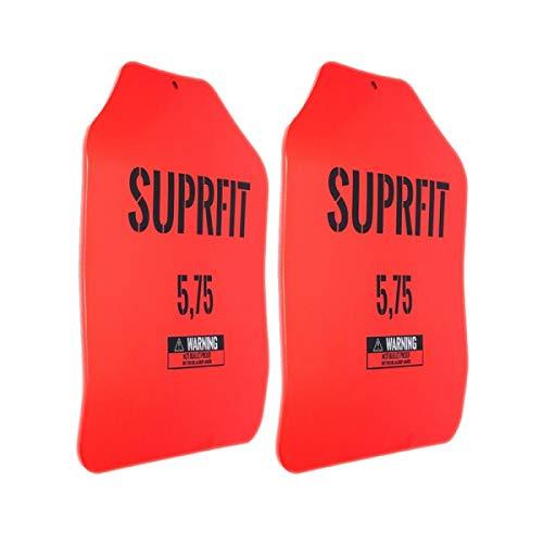 Suprfit Sigurd 3D Gewichtsscheiben - für Sigurd 3D Gewichtsweste, 2 x 5,75 lbs (5,2 kg), ergonomische Form, optimierte Gewichtsverteilung, Pulverbeschichtung rot