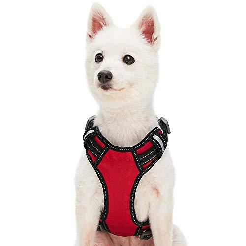 Umi. Essential - Arnés Tipo Chaleco Ajustable para Perros con Bandas Reflectantes, Talla L, Rojo