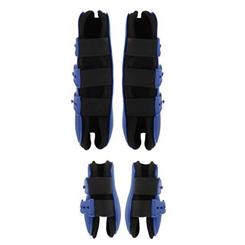 T TOOYFUL 2 Paar Sehnenschoner & Streichkappen Anti Rutsch Neopren Futter Für Vielseitigkeit - Blau