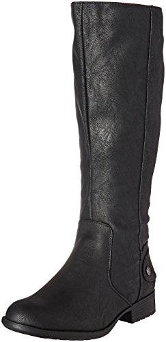 LifeStride Women's Xandy Riding Boot, Black, 6 M US
