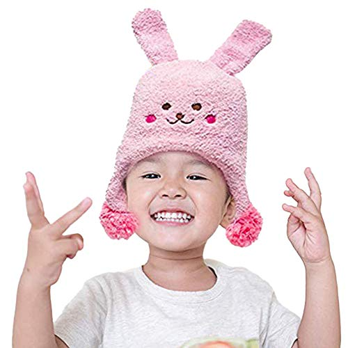 The Original Flipside Pillow Rest Rally Repeat Bunny Hats for Kids and Toddlers Winter Beanie for Outdoor Fun, Ski and Play Unisex.