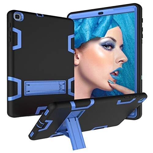 Funda HH-Tablet para Samsung Galaxy Tab A 10.1 (2019) T510 a prueba de golpes PC + funda protectora de silicona, con soporte hangma (color negro y azul)