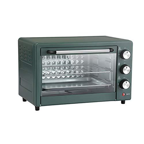 El horno compacto de la tostadora de la encimera de convección de 800W, incluye la bandeja de hornear, la bastidor de la astura y el bastidor de tostado, el acero inoxidable / verde, el tamaño compact