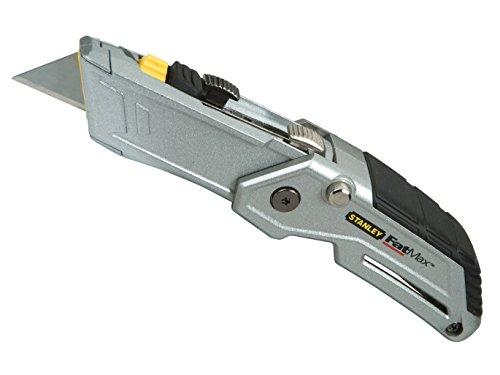 Stanley FatMax Klappmesser Twin Blade (einklappbar, ergonomisches Design, werkzeugloser Klingenwechsel) 0-10-825