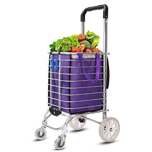 ZSLLO Einkaufswagen Kompakter Einkaufswagen-Trolley-Pack Faltbare Wiederverwendbare Einkaufstasche Öko-Supermarkt-Tasche Einfach zu bedienen und schwere Bolsas (Farbe : B)