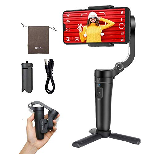 Feiyutech Feiyu Vlog Pocket Foldable 3-Axis Handheld Gimbal Stabilizer YouTube Video Vlog Tripod for iPhone 11 Pro Xs Max Xr X 8 Plus 7 6 SE Android Smartphone Samsung Galaxy Note10 S10 S9 S8 S7