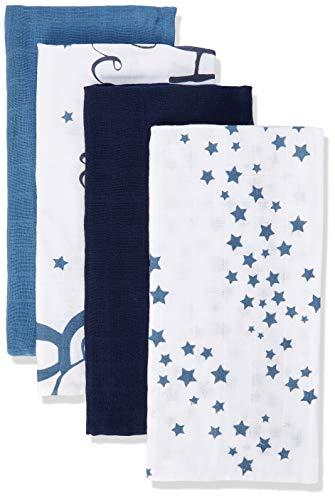 Pippi Unisex Baby 6er Pack Windeln mit verschiedenen Motiven Badebekleidungsset, Mehrfarbig (Provincial Blue 796), (Herstellergröße:70x70)