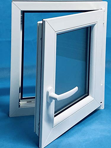 (V26M) - Finestra in PVC 600 x 700 per destra, oscillante, practicable opaco