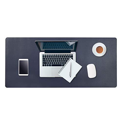 """HoYiXi Tappetino per Mouse Desk Pad Tappetino da Scrivania Extra grande 32"""" x 16"""" Doppia Facciata Impermeabile Sottomano da Ufficio Gaming Mouse Pad, blu marino & giallo"""