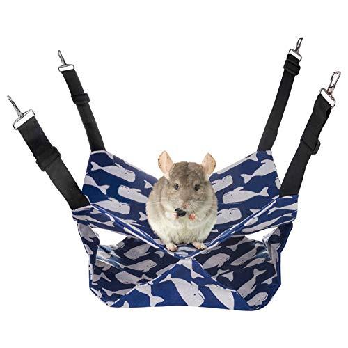 Amaca per animali domestici Letto a castello Oscillante Letto a doppio strato per piccoli animali Cincillà Pappagallo Porcellino d'India Petauro dello zucchero Furetto Scoiattolo Criceto Ratto
