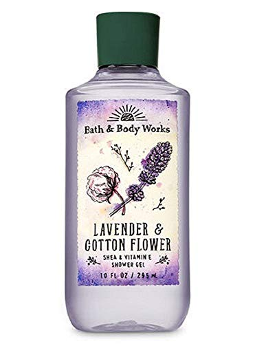 Bath and Body Works Lavender Cotton Flower Shower Gel 10 Ounce