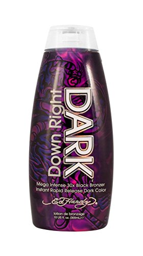 Ed Hardy UV Bed Tanning Lotion Fast Acting 30x Bronzer DOWN RIGHT DARK 10 Oz