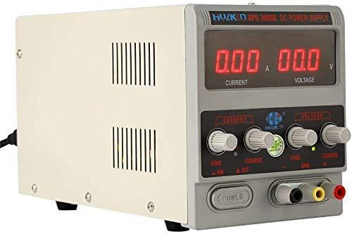 Cocoarm DC Labornetzgerät Labornetzteil 0-30V 0-10A Regelbares Netzteil Stromversorgung Transformator regelbar Digitalanzeige, Stabilisiert Netzgerät