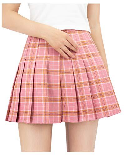 DAZCOS US Size Plaid Skirt High ...
