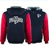 NFL Imprimé Numérique 3D Hoodie Falcons De Football -Atlanta Formation des Hommes Sweat-Shirt, Chaud Sport Unisexe Pull,D,6XL