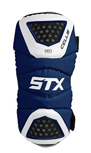 STX Lacrosse Cell 3 Arm Pad, Navy/White, Medium