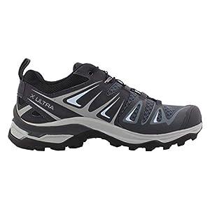 Salomon Women's X Ultra 3 Hiking Shoes, Stormy Weather/Ebony/Cashmere Blue, 8