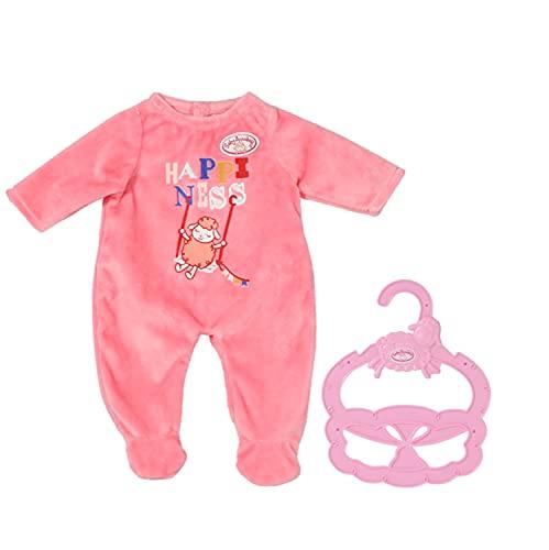 Zapf Creation 706312 Baby Annabell Little Strampler pink 36 cm - rosa Puppenstrampler mit Kleiderbügel