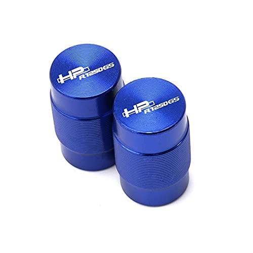 Anti corrosión Válvula de neumático de Rueda de Motocicleta Tapa de vástago CNC Cubiertas herméticas Accesorio para R1250GS Adventure LC HP R 1250GS HP 2018-2020 Durable (Color : Blue)